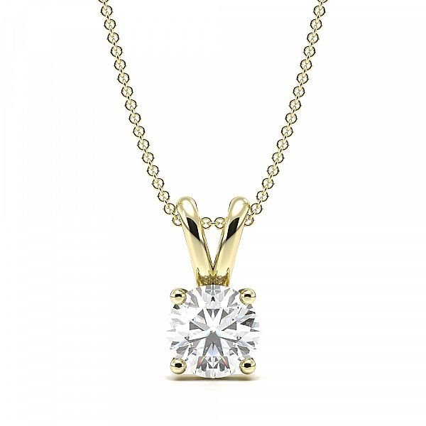 4 Claw Basket Setting Lab Grown Diamond Necklace
