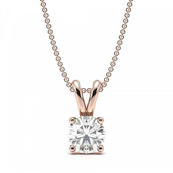 4 Claw Basket Setting Moissanite Necklace