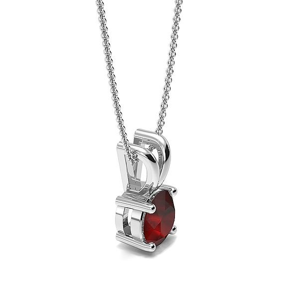 4 Claw Basket Setting Ruby Gemstone Necklace