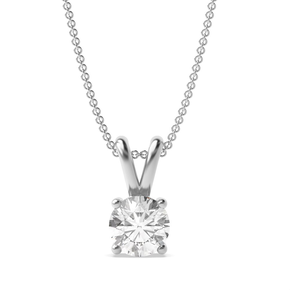 afc0bb3386314 18K White Gold Diamond Pendants And Necklace