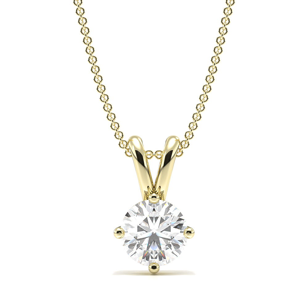 4 Prong Setting Round Solitaire Diamond Pendant