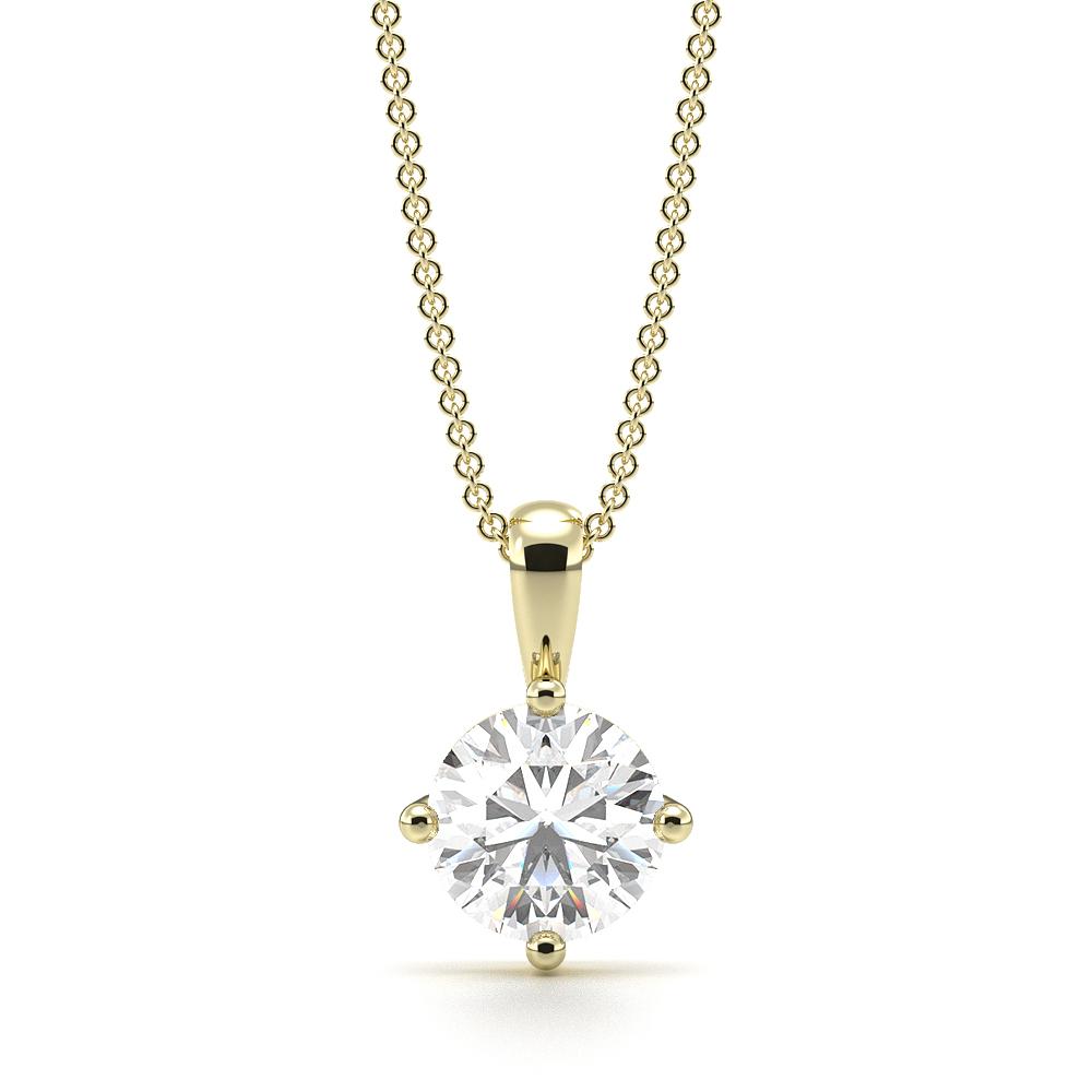 d577e78dd Round Solitaire Diamond Pendant White Gold / Platinum - Abelini UK