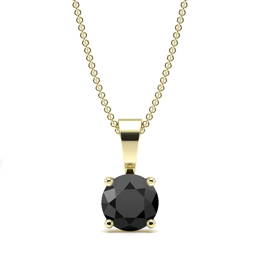 4 Claw Solid Bale Black Diamond Necklace