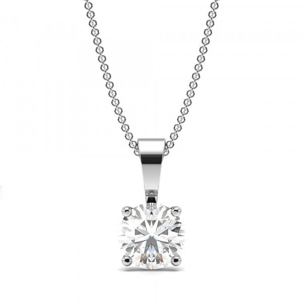 4 Claw Solid Bale Moissanite Necklace