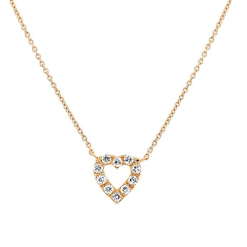 0.1Ct Heart Shape Diamond Necklace Pendant for Women (6X6Mm)
