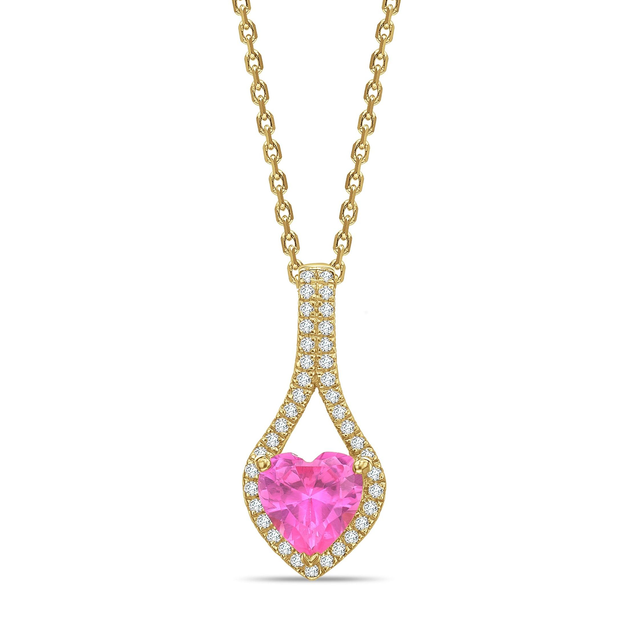 Designer Style Heart Shape Halo Diamond Necklace