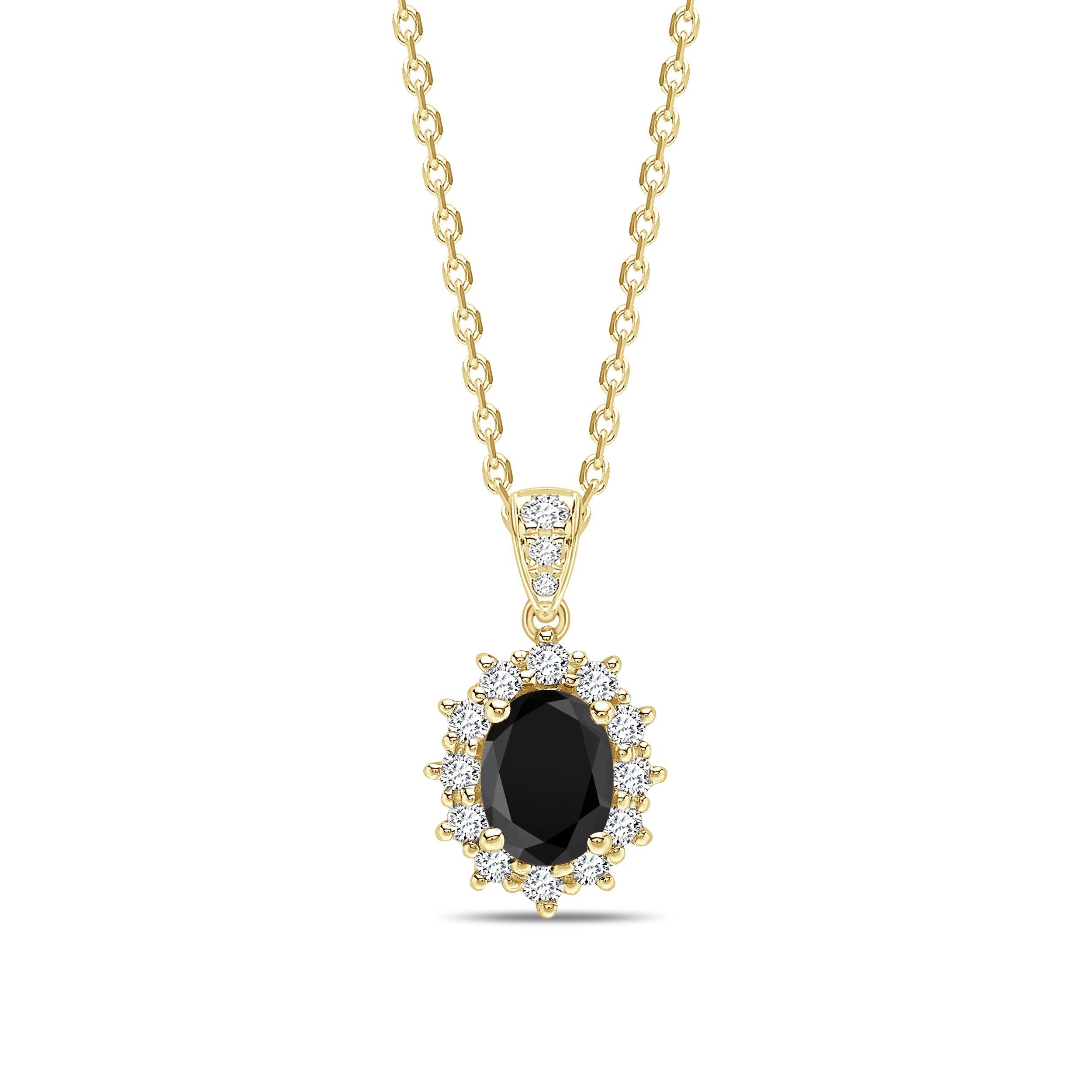 Dangling Halo Style Black Diamond Solitaire Pendants Necklace