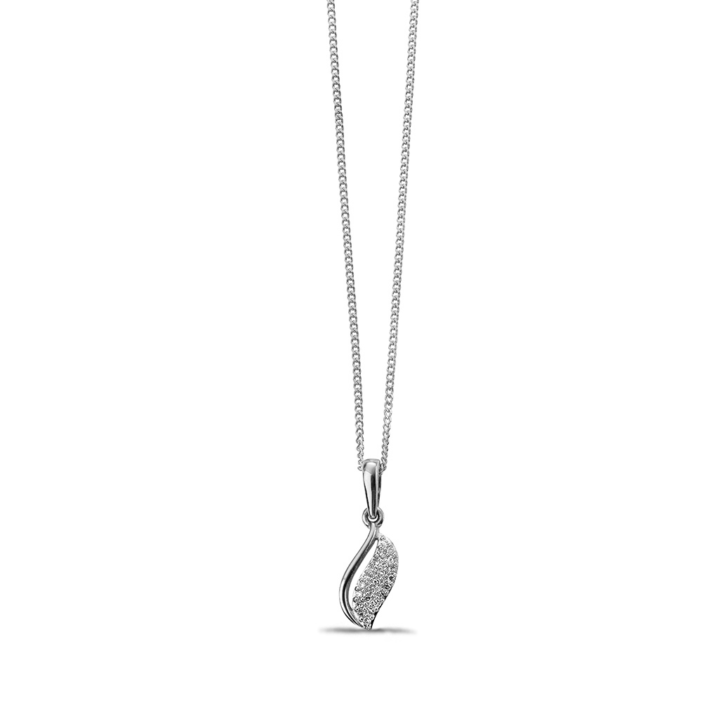 Exclusive Harp Diamond Pendant Necklace (17mm X 5mm)