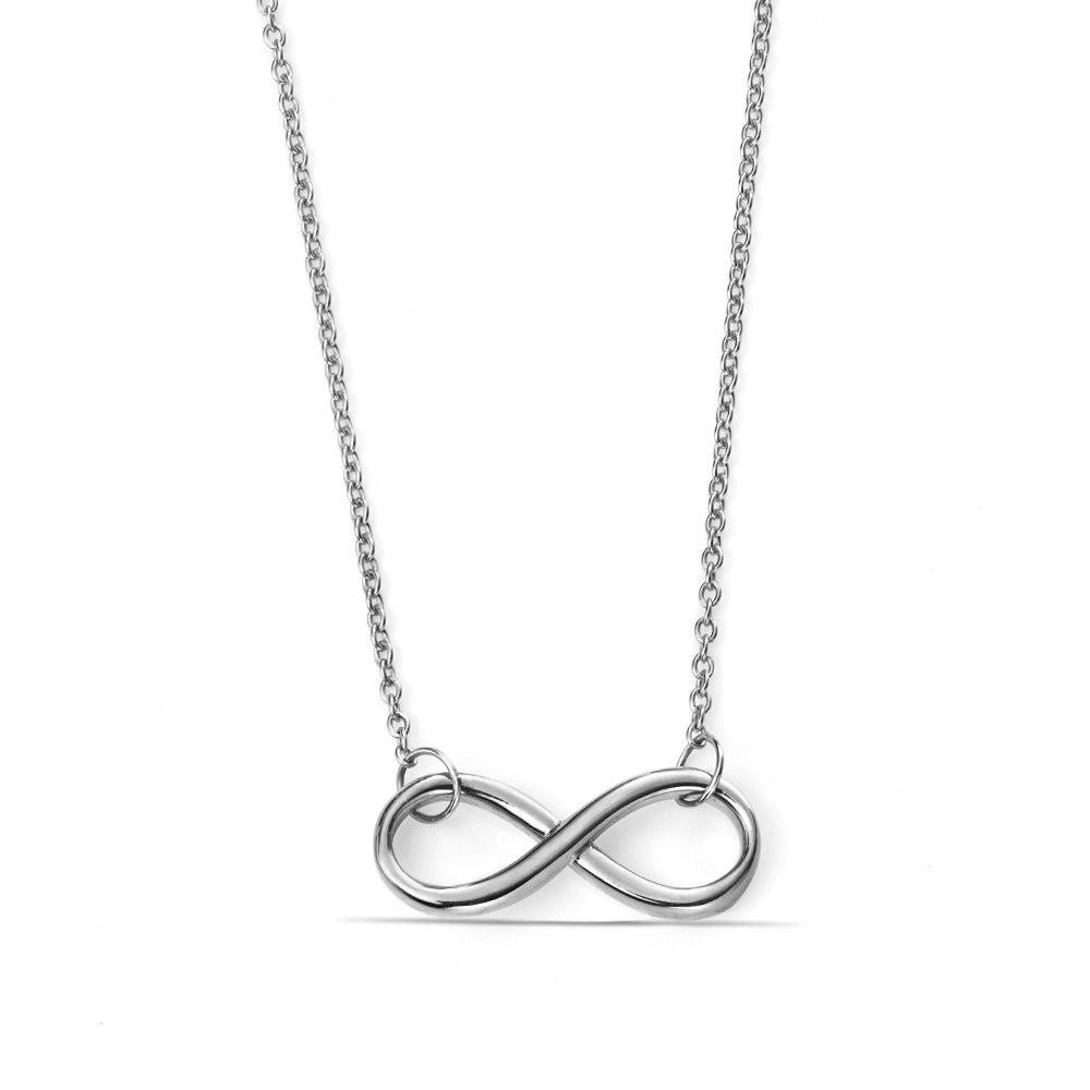 Popular Plain Gold Infinity Necklace in All Three Colour Gold and Platinum (7mm X 19mm)