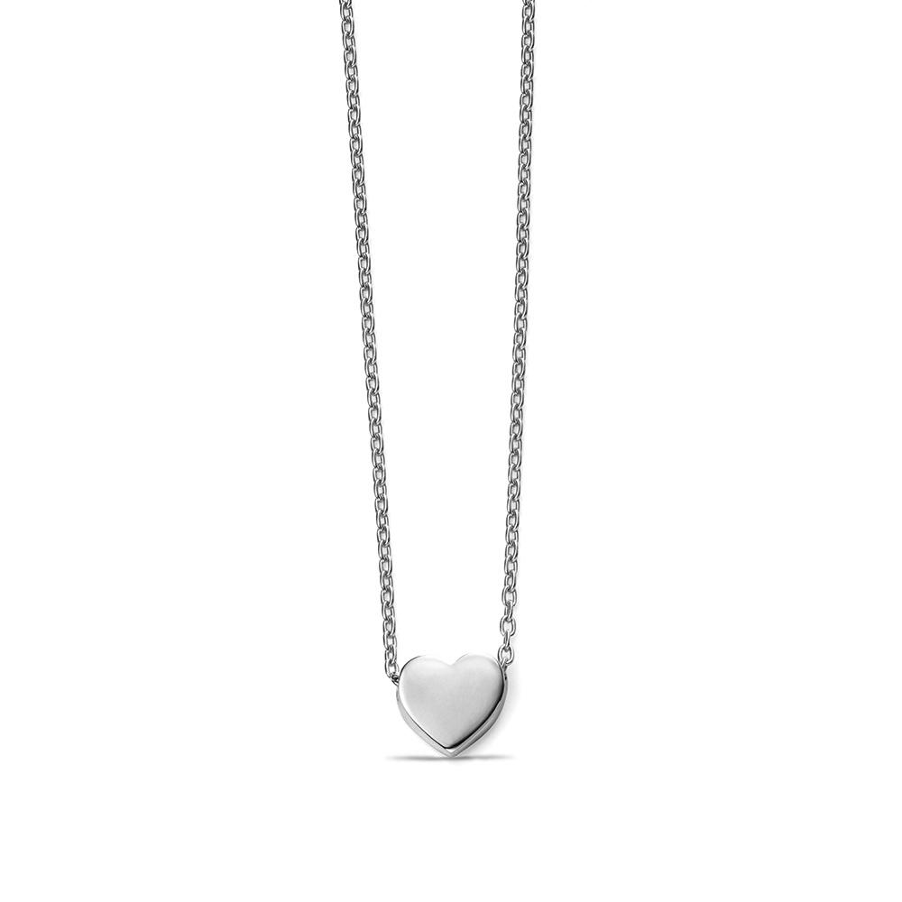 Plain Gold Personalise Heart Charm Necklace Pendant (6.5mm X 6.9mm)