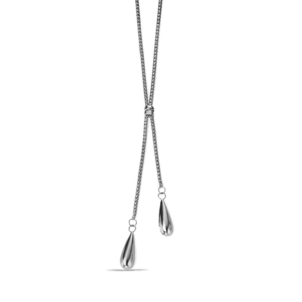 Exclusive Plain Double Teardrop Designer Necklace (16mm X 5mm)