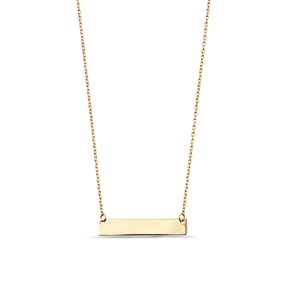 Plain Gold or Platinum Plate Personalise Necklace