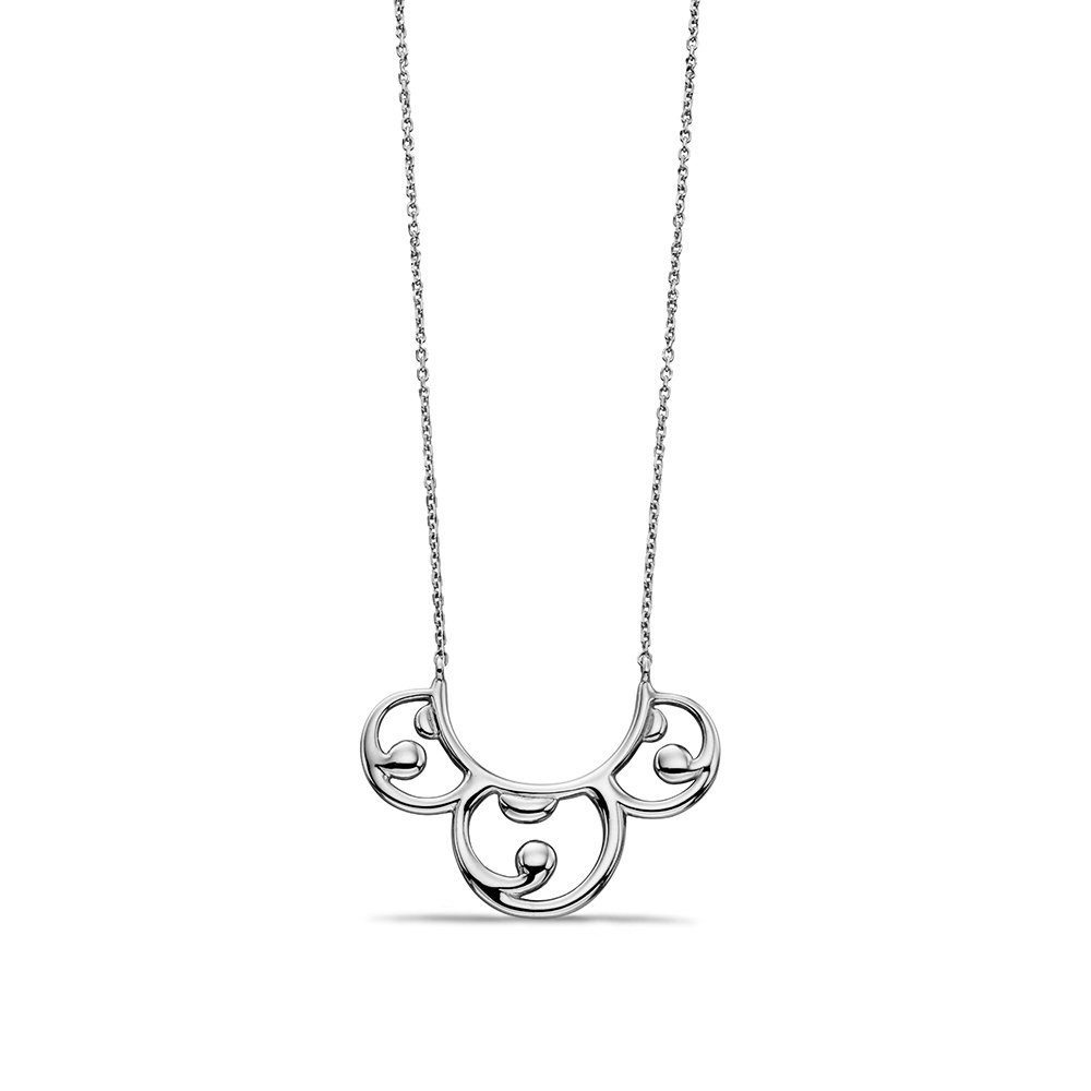Exclusive Baroque Style Necklace in White Gold, Yellow Gold or Rose Gold  (18mm X 24mm)