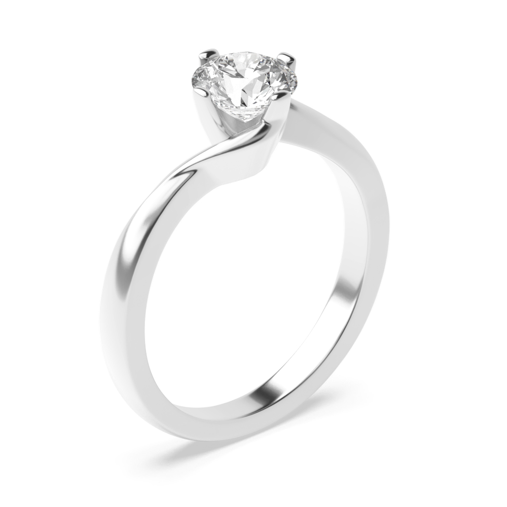 Solitaire Moissanite Engagement Ring Prong Set in Round Cut