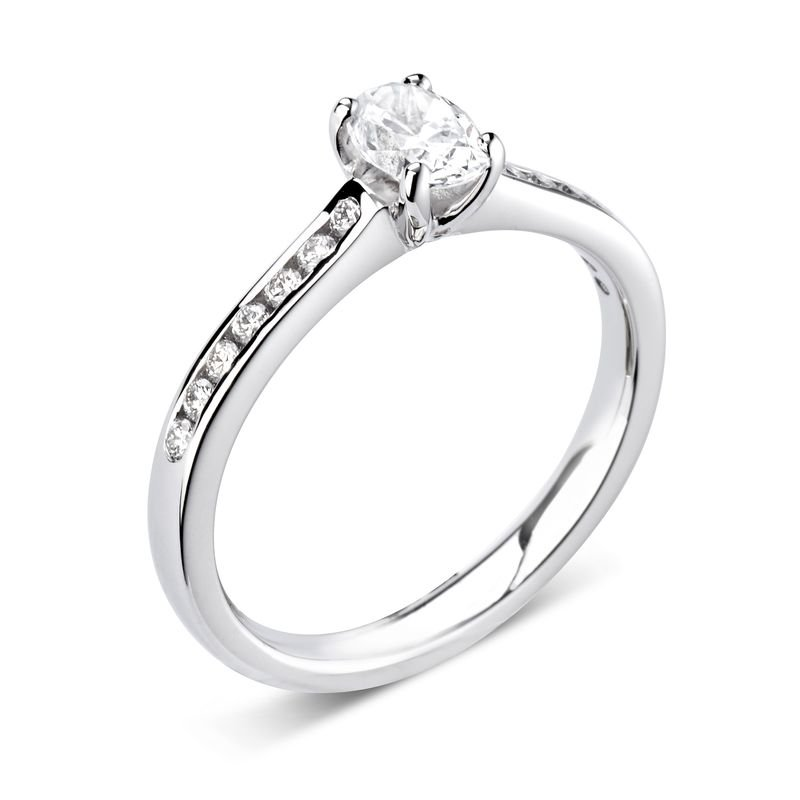 Oval Diamond Solitaire Engagement Rings Prong Setting