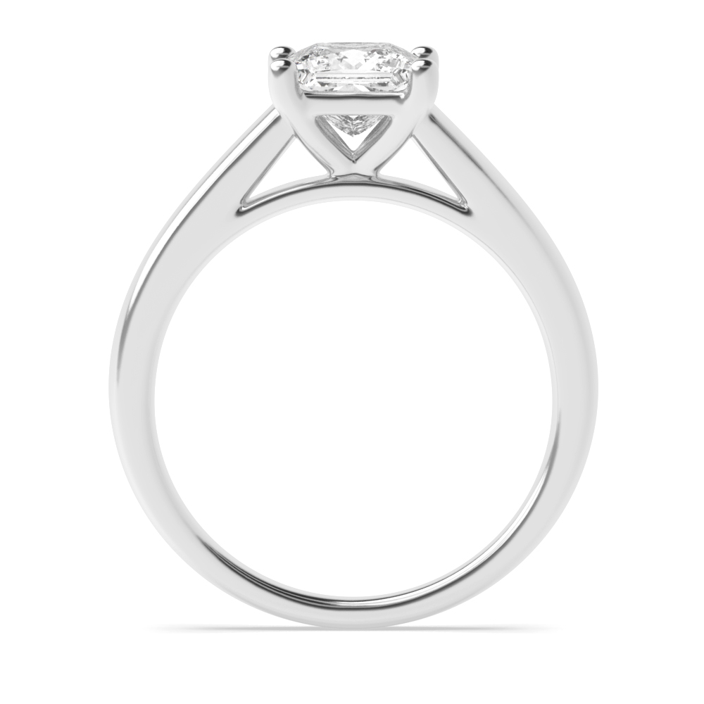 Prong Setting Princess Cut Diamond Solitaire Engagement Ring