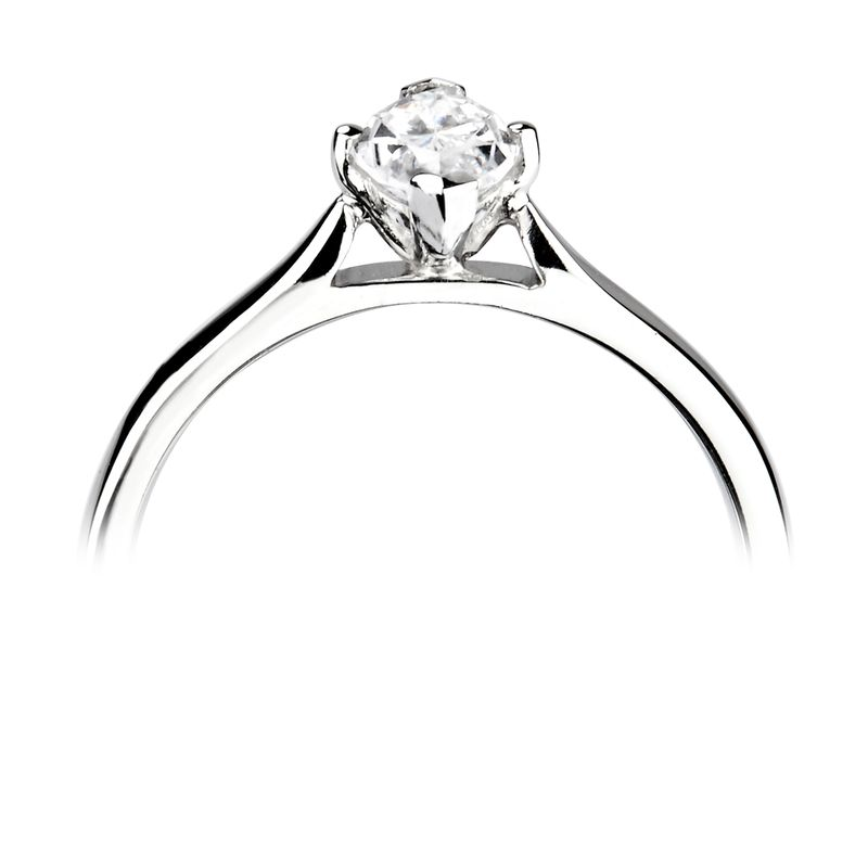 Prong Setting Marquise Solitaire Diamond Engagement Ring