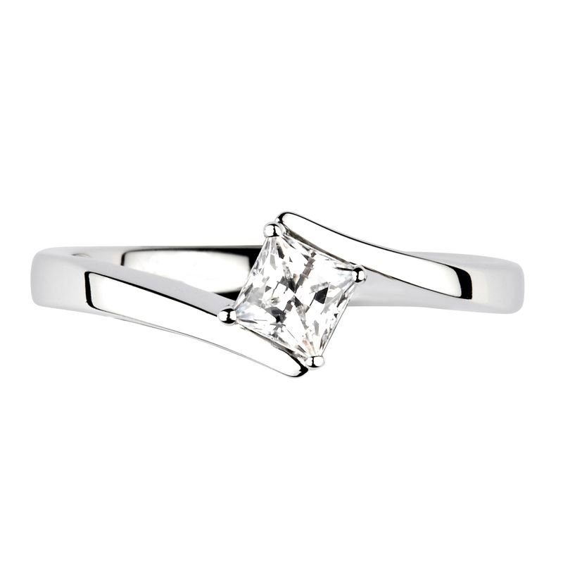 Prong Setting Princess Diamond Solitaire Engagement Ring