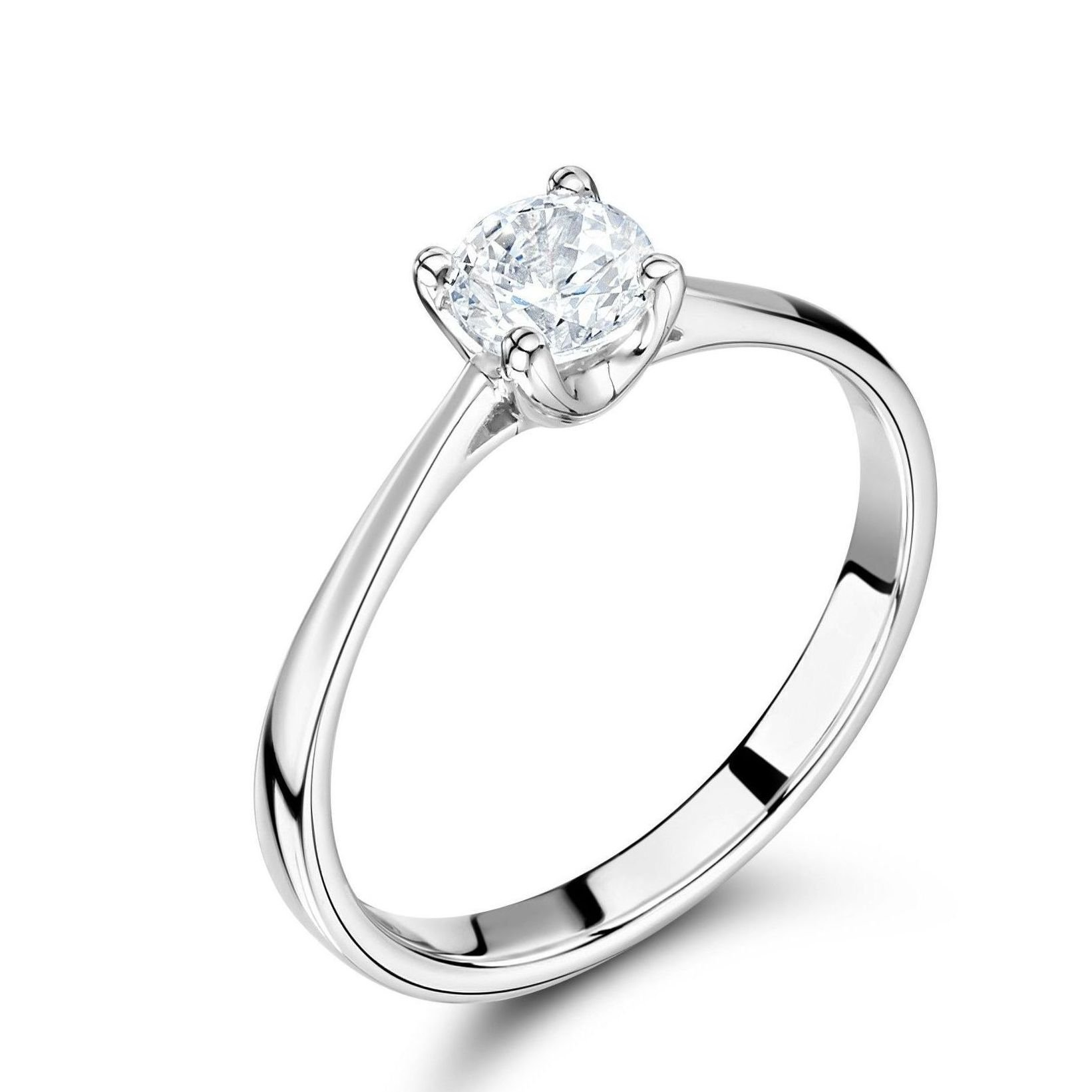 4 Prong Set Solitaire Lab Grown Diamond Engagement Ring