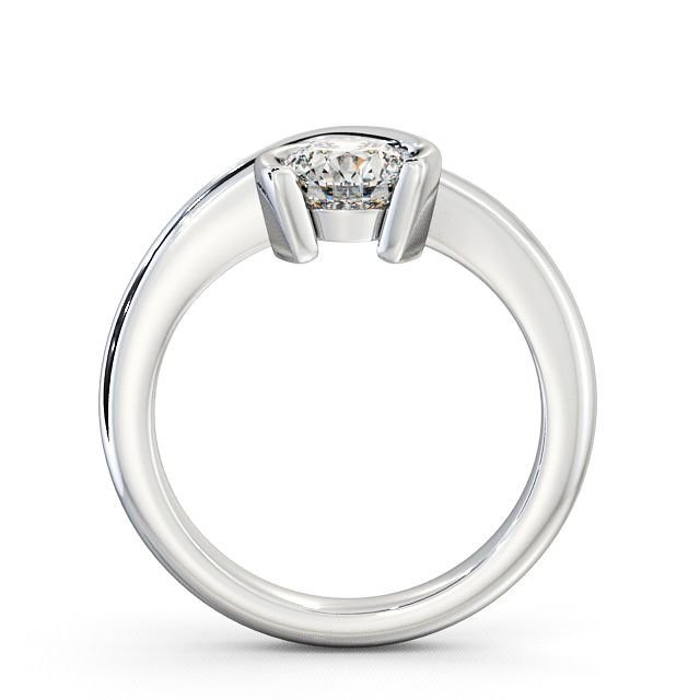 Bezel Set Round Solitaire Diamond Engagement Rings for Women