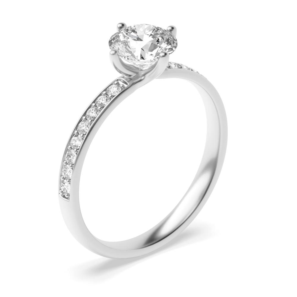 Twist  Setting Side Stone Diamond Engagement Rings UK