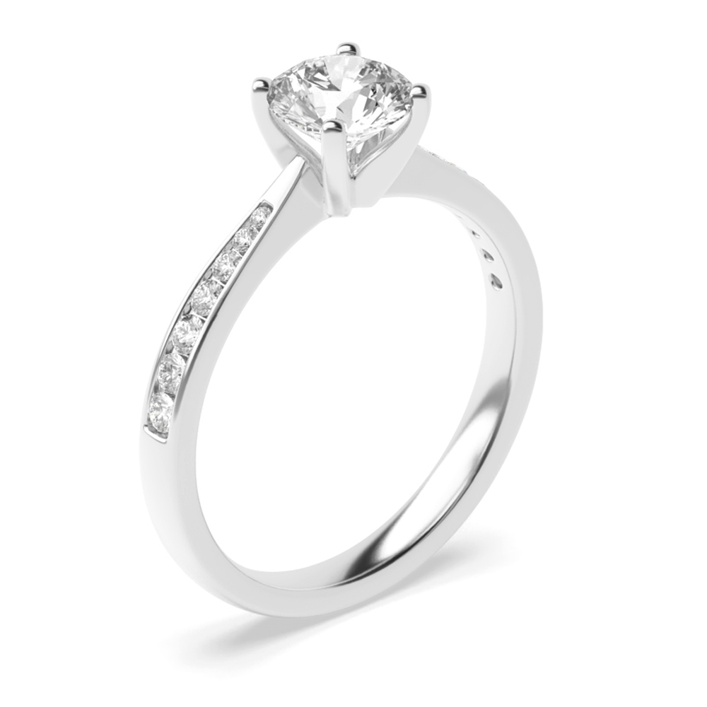 Round Cut Diamond Wedding Rings