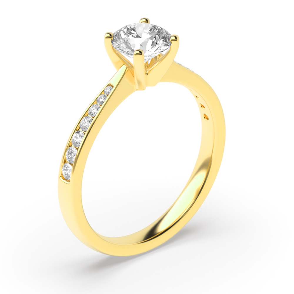 4 Claw Set Brilliant Cut Solitaire Lab Grown Diamond Engagement Ring UK