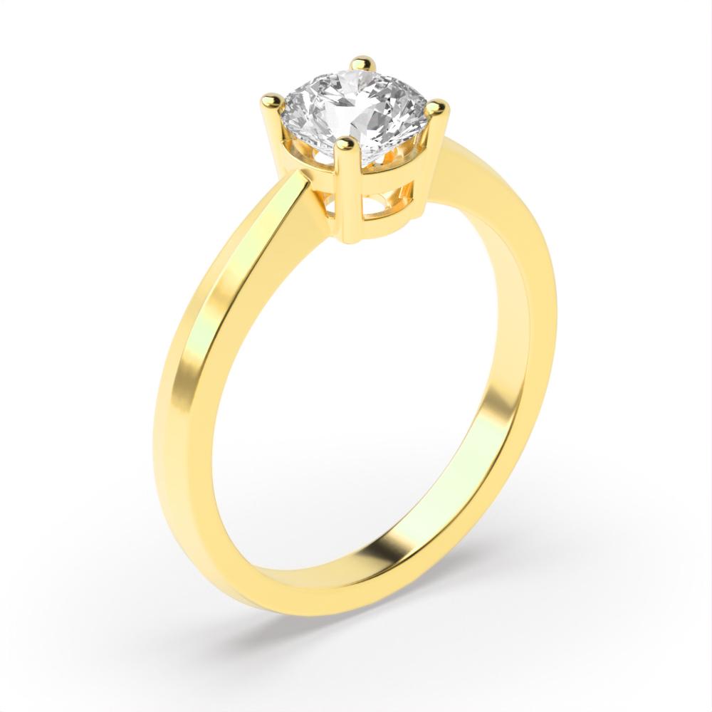Elegant 4 Prong Set Round Solitaire Diamond Engagement Rings UK