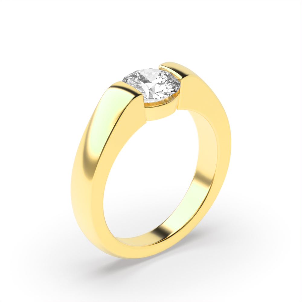 Solitaire Moissanite Engagement Ring Style for Women