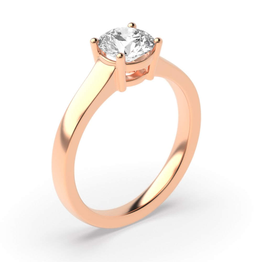 4 Prong Lab Grown Diamond Solitaire Engagement Rings UK for Women