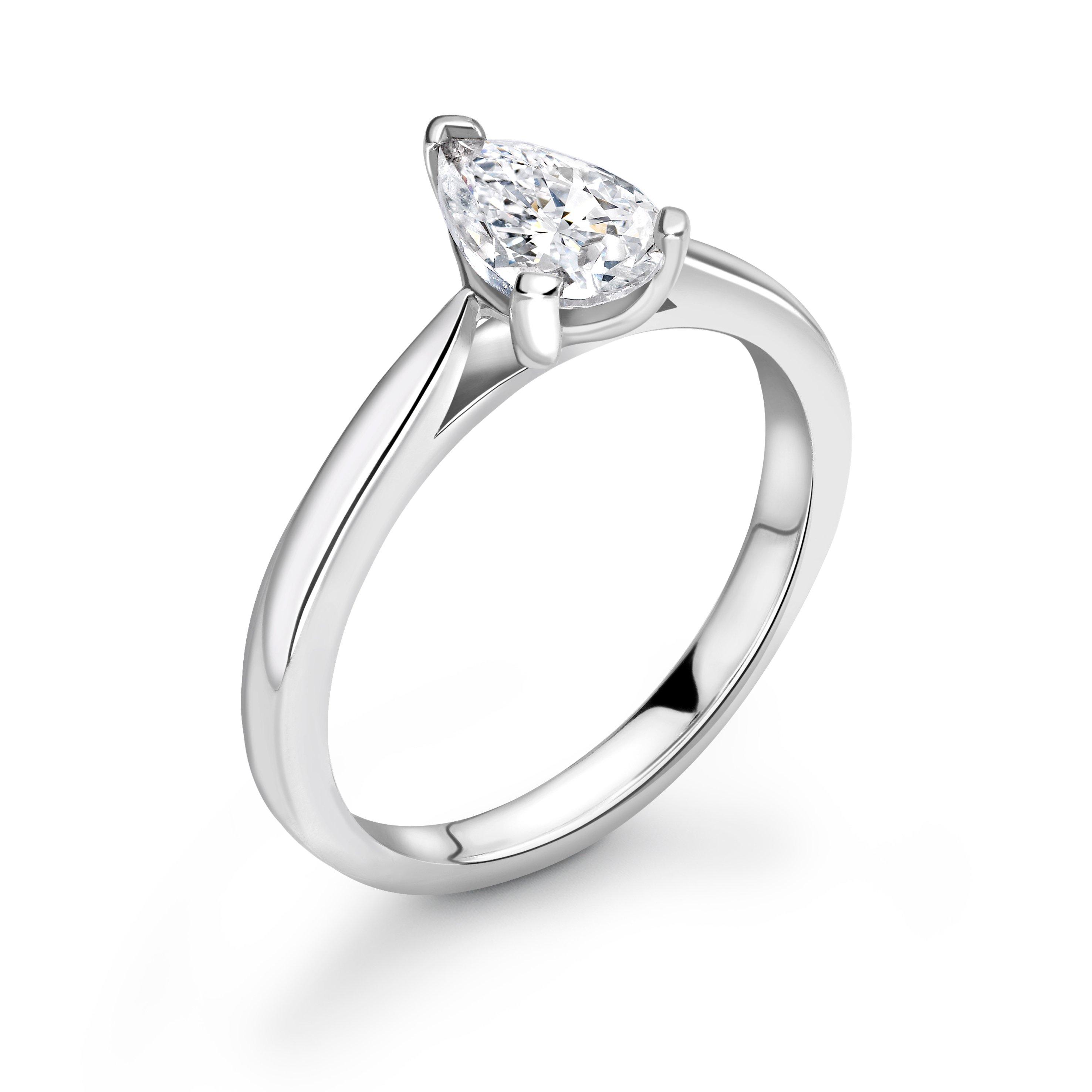Classis Tear Drop Shape Diamond Engagement Ring