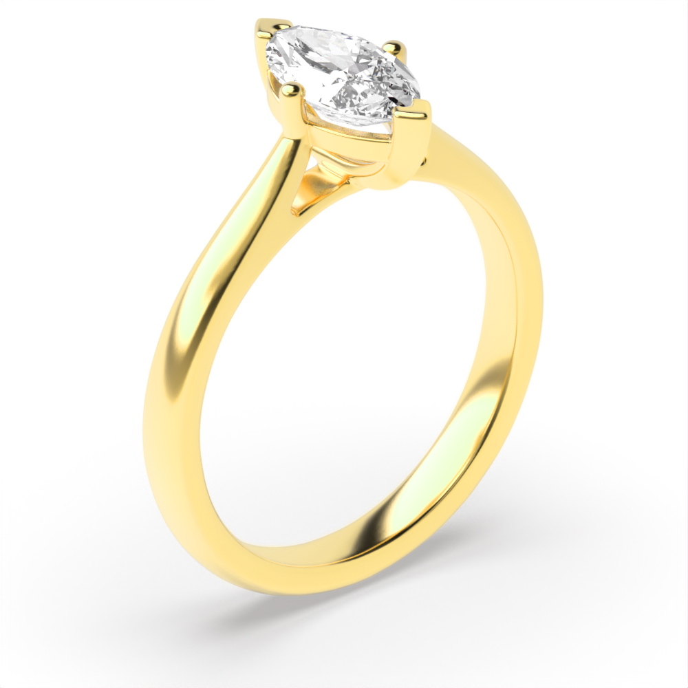 Classis Marquise Shape Diamond Engagement Ring