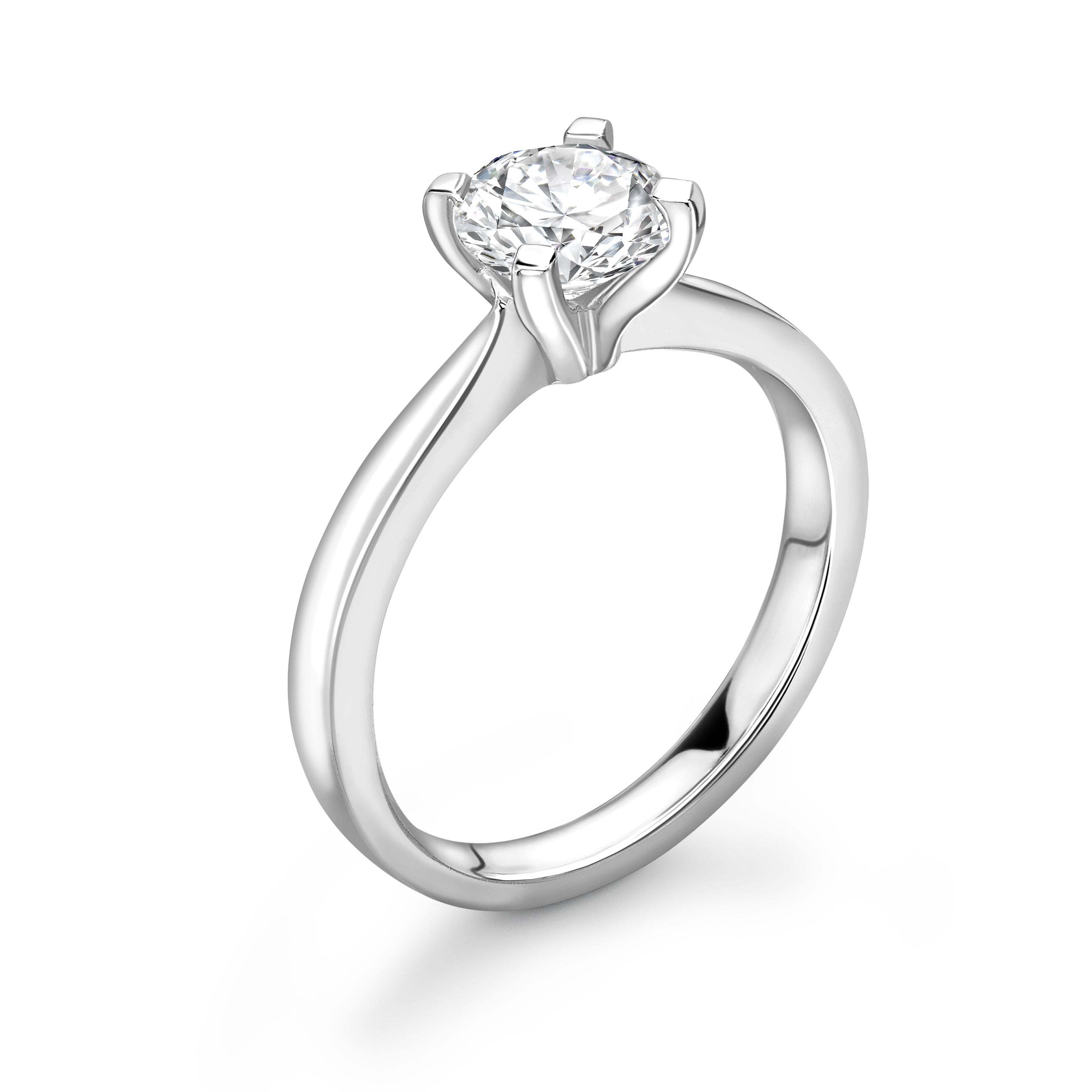 Open Setting 4 Claw solitaire Diamond Engagement Rings UK