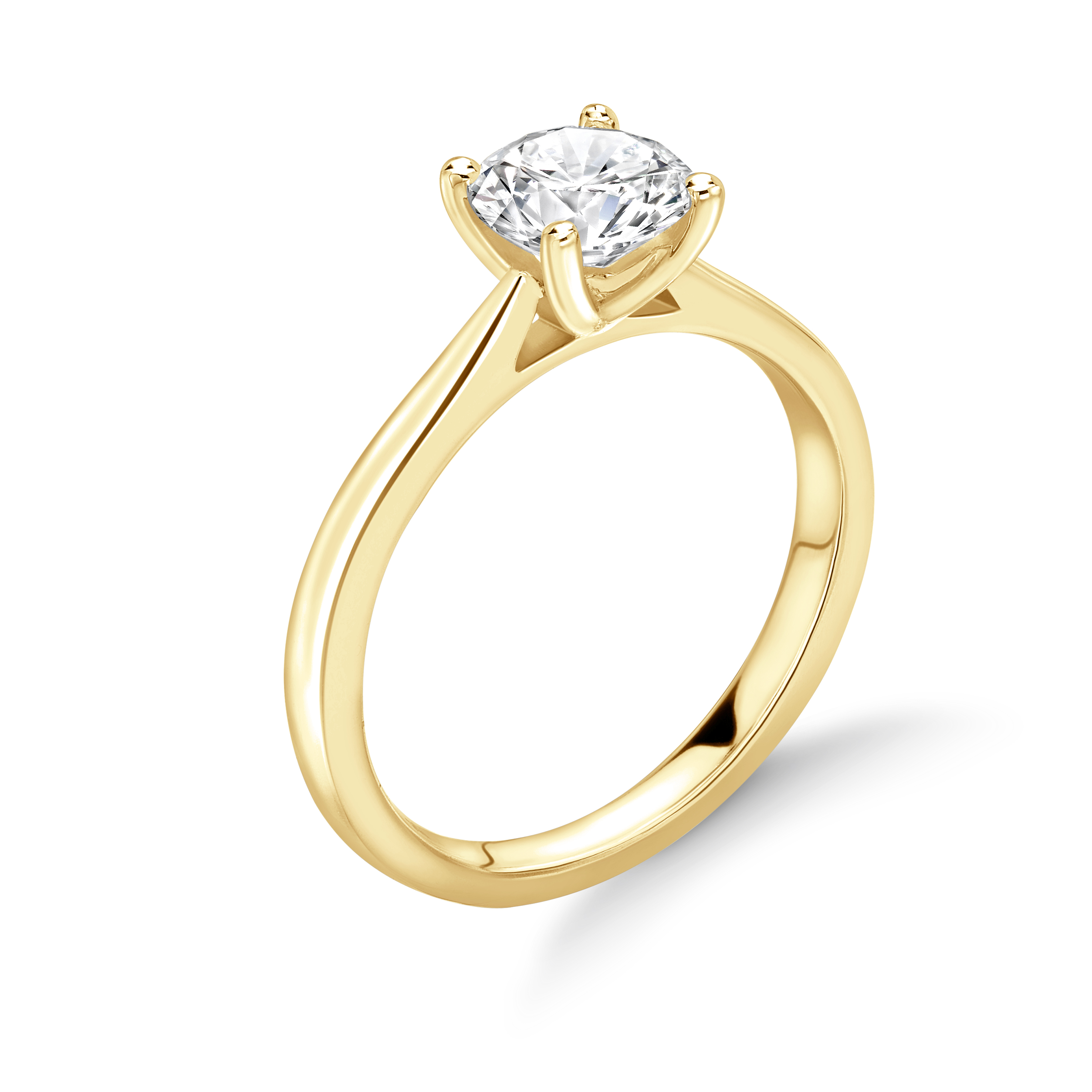 Classic Open Claw Setring Solitaire Diamond Engagement Ring