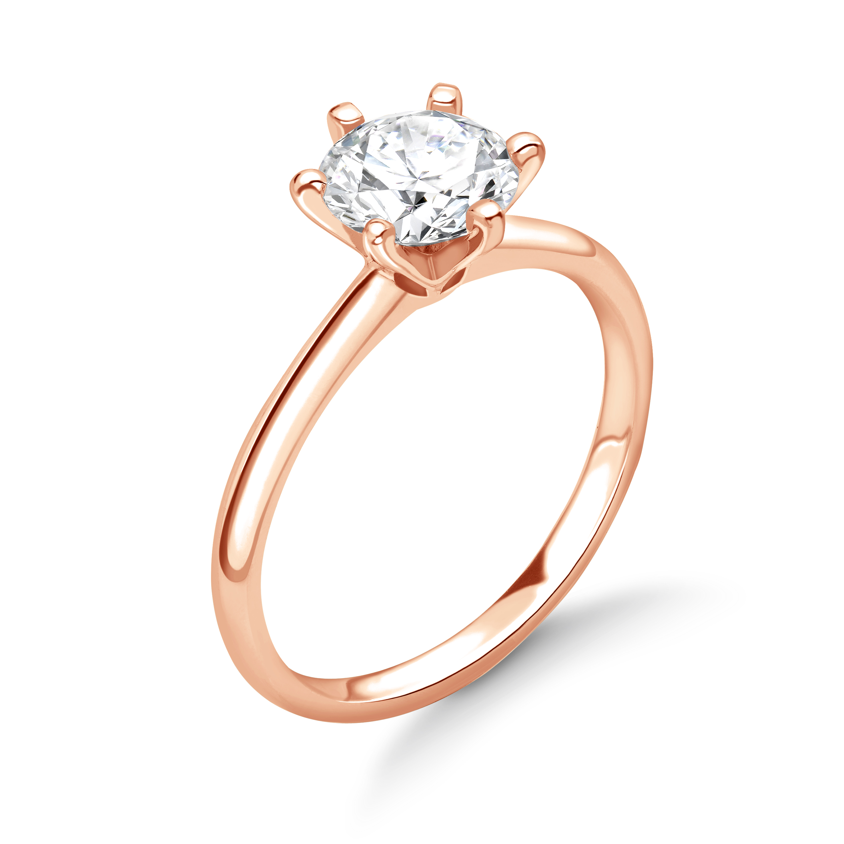 Exclusive Crown Style Setting Solitaire Lab Grown Diamond Engagement Ring
