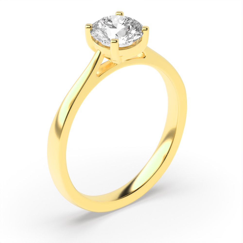 Classic Delicate Popular Solitaire Diamond Engagement Rings