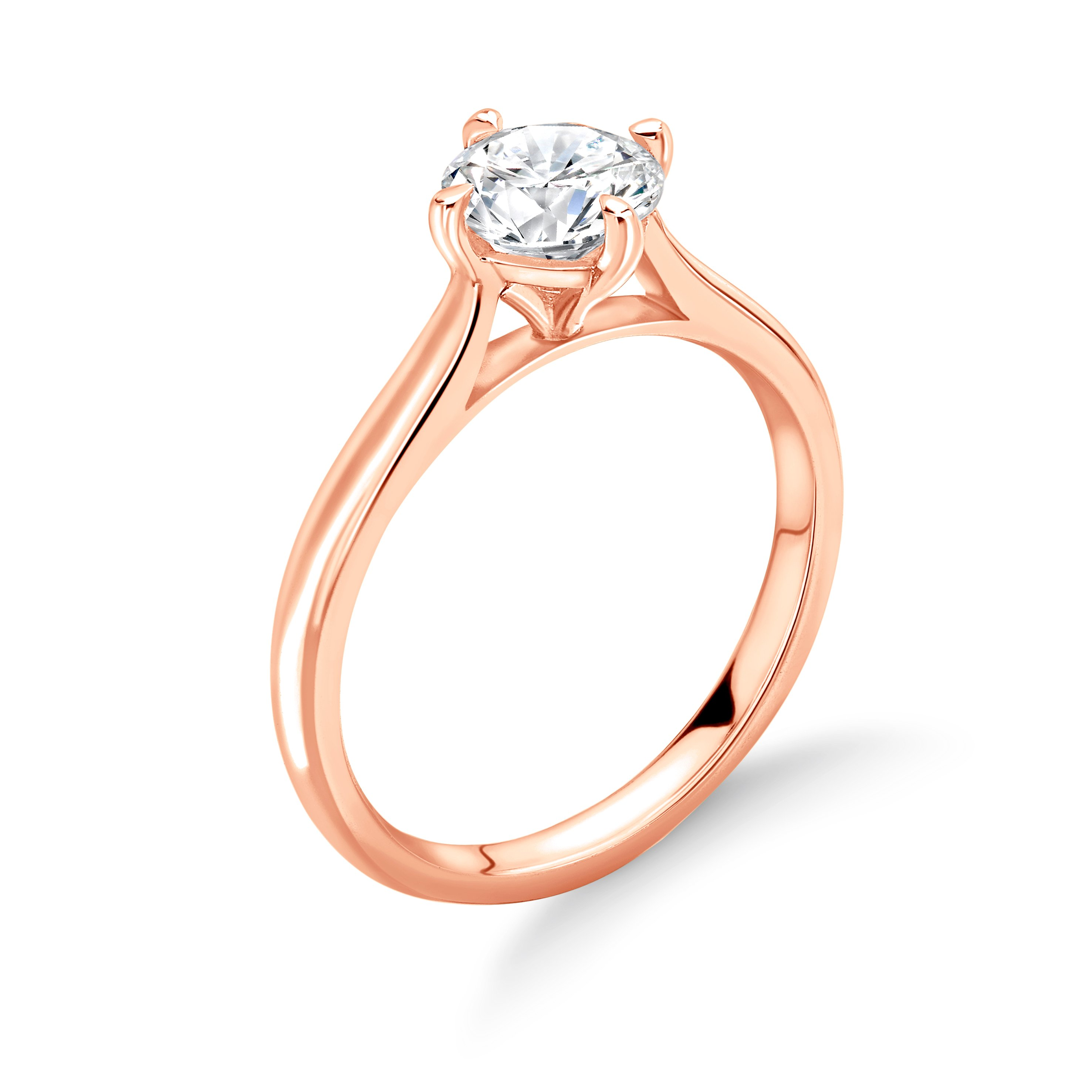 N-W-E-S Style Setting Solitaire Diamond Engagement Ring