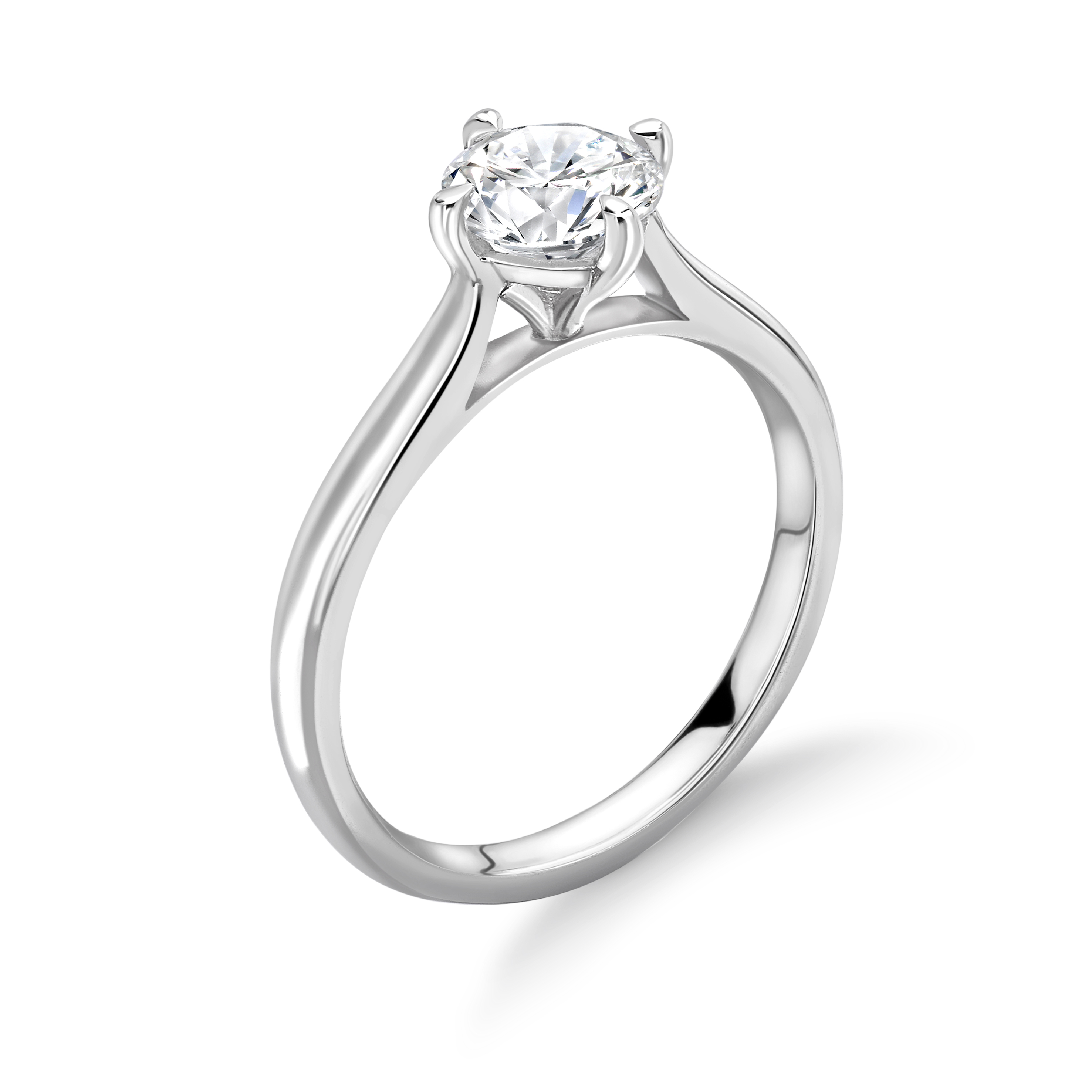 N-W-E-S Style Setting Solitaire Lab Grown Diamond Engagement Ring