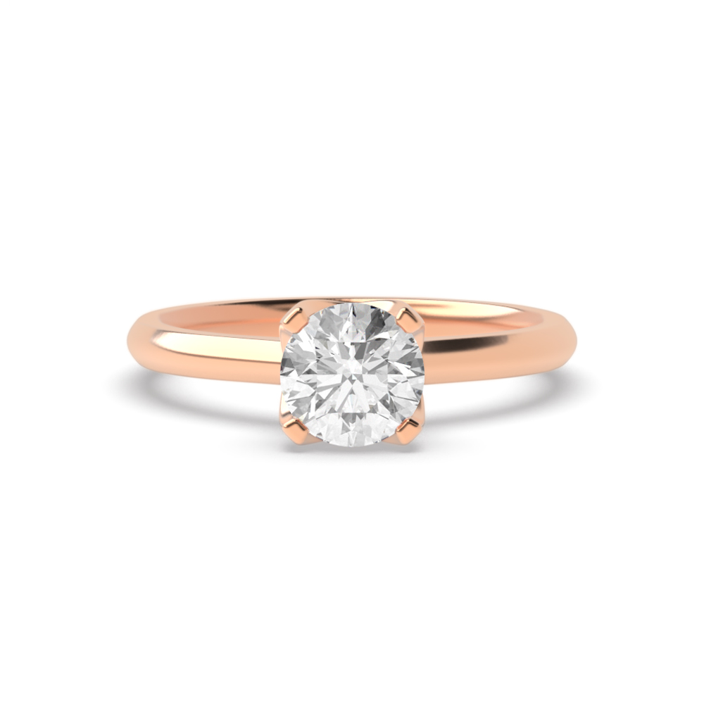 High Set Modern Setting Solitaire Diamond Engagement Rings