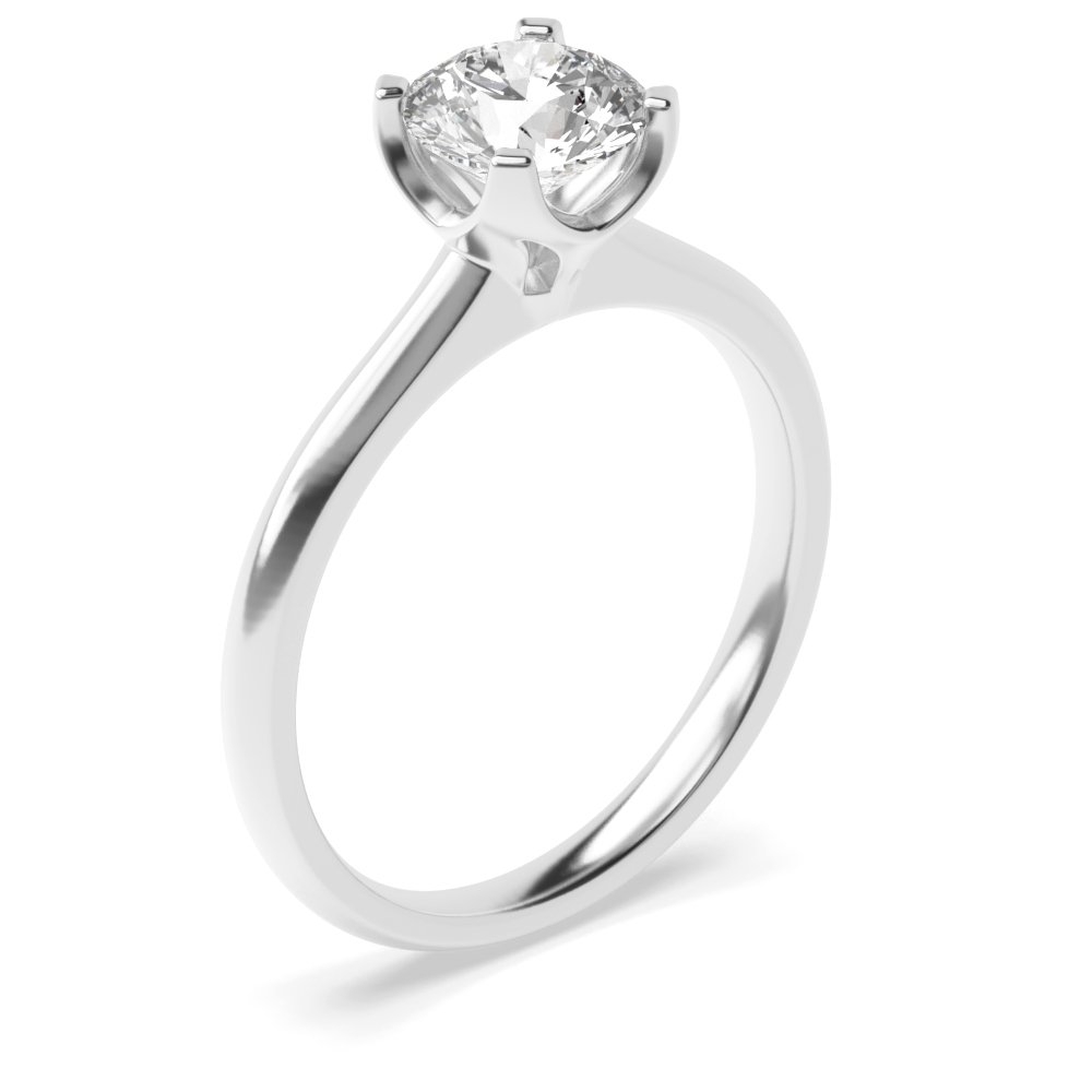 High Set Modern Setting Solitaire Lab Grown Diamond Engagement Ring