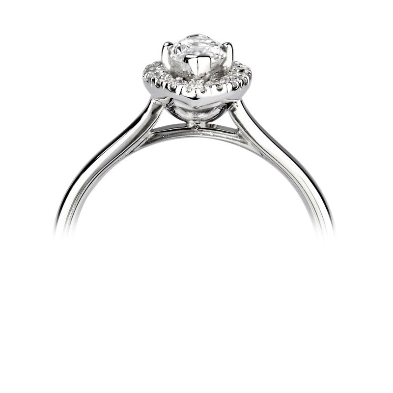 Marquise Halo Engagement Ring Diamond Halo Engagement Ring
