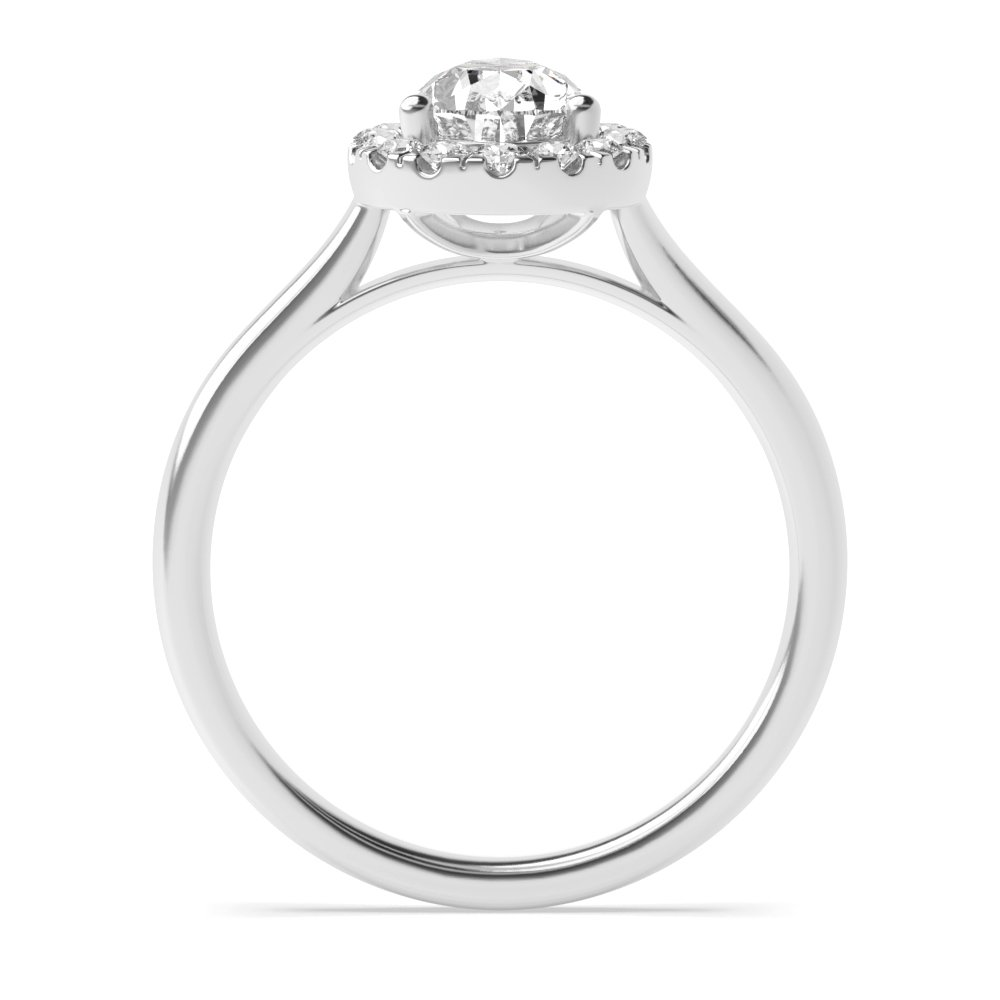 Pear Engagement Halo Diamond Engagement Ring In White / Rose Gold Rings In Uk