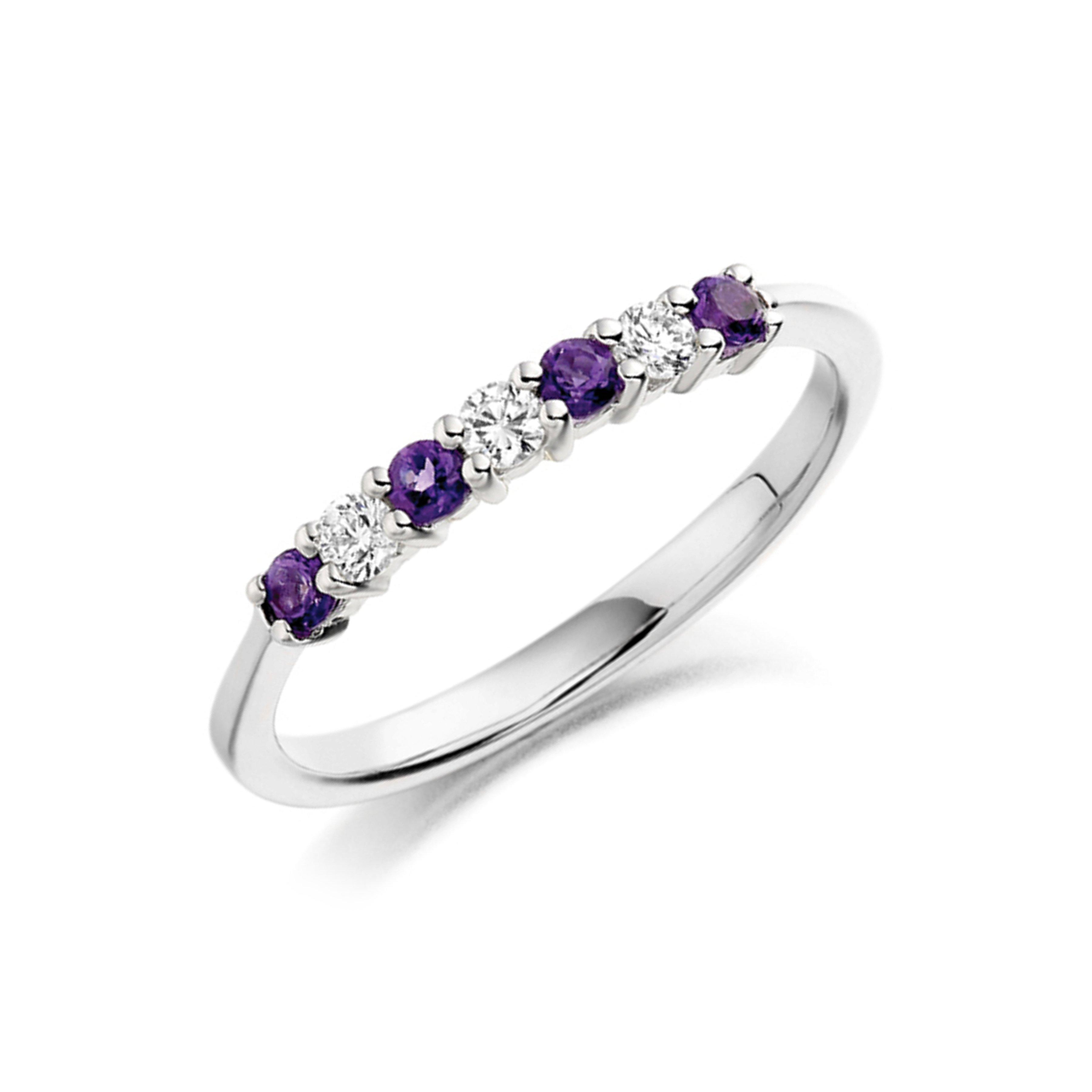 Five Stone Diamond Ring In Platinum 4 Prong Set