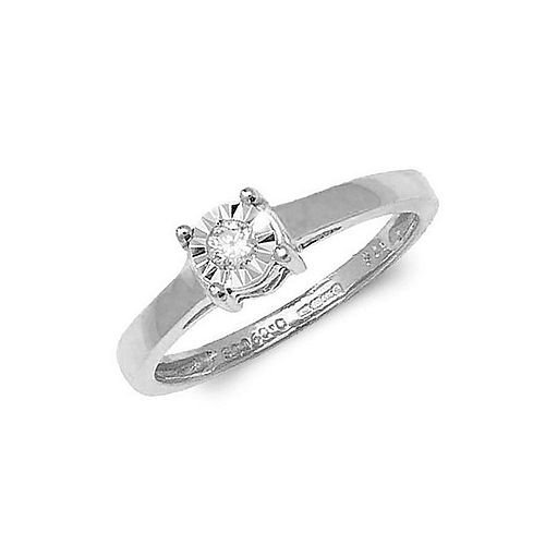 Illusion Set Solitaire Style Diamond Cheap Engagement Rings (4.5mm, 5.0mm, 6.5mm)