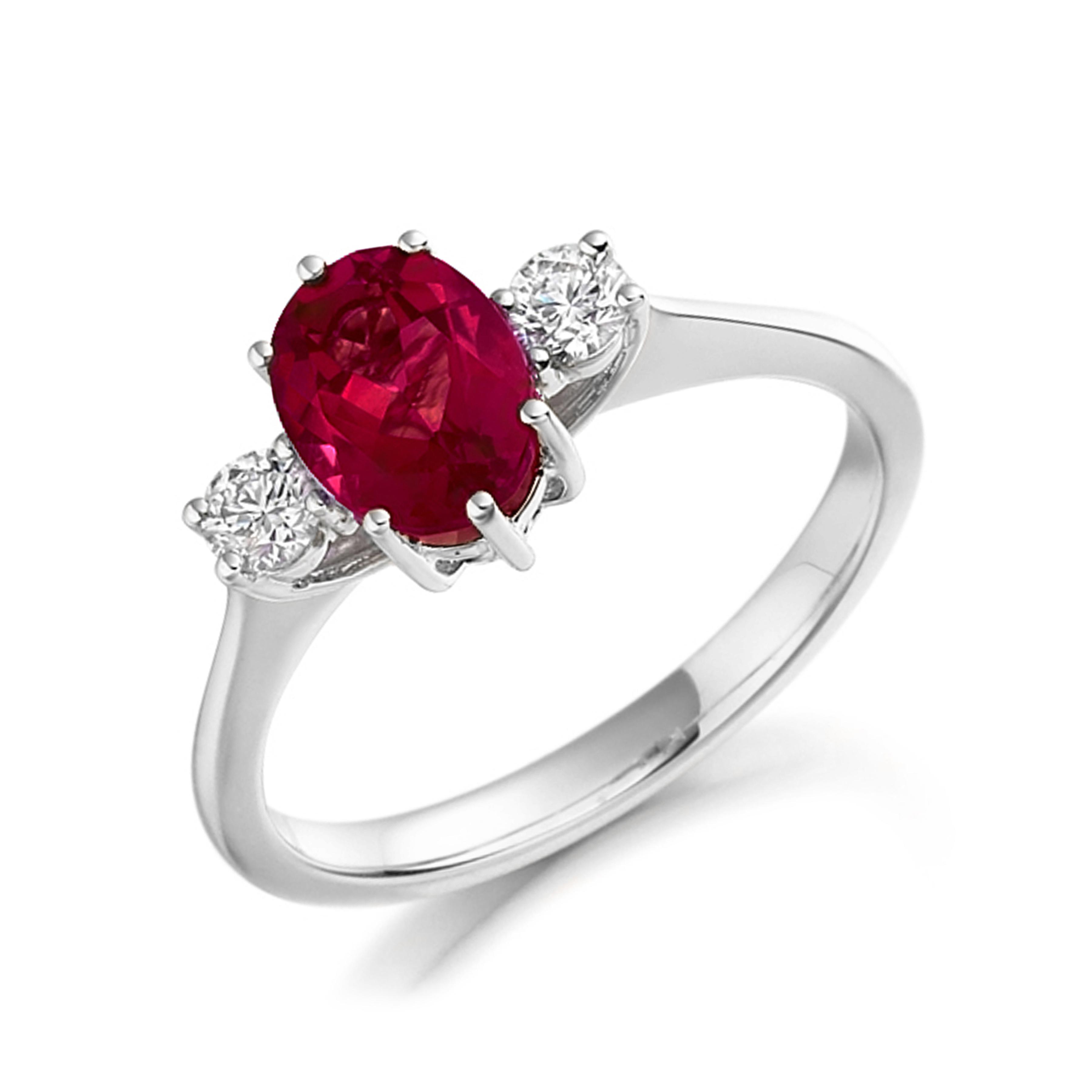 Gemstone Ring With 0.6ct Emerald Shape Tanzanite and Diamonds