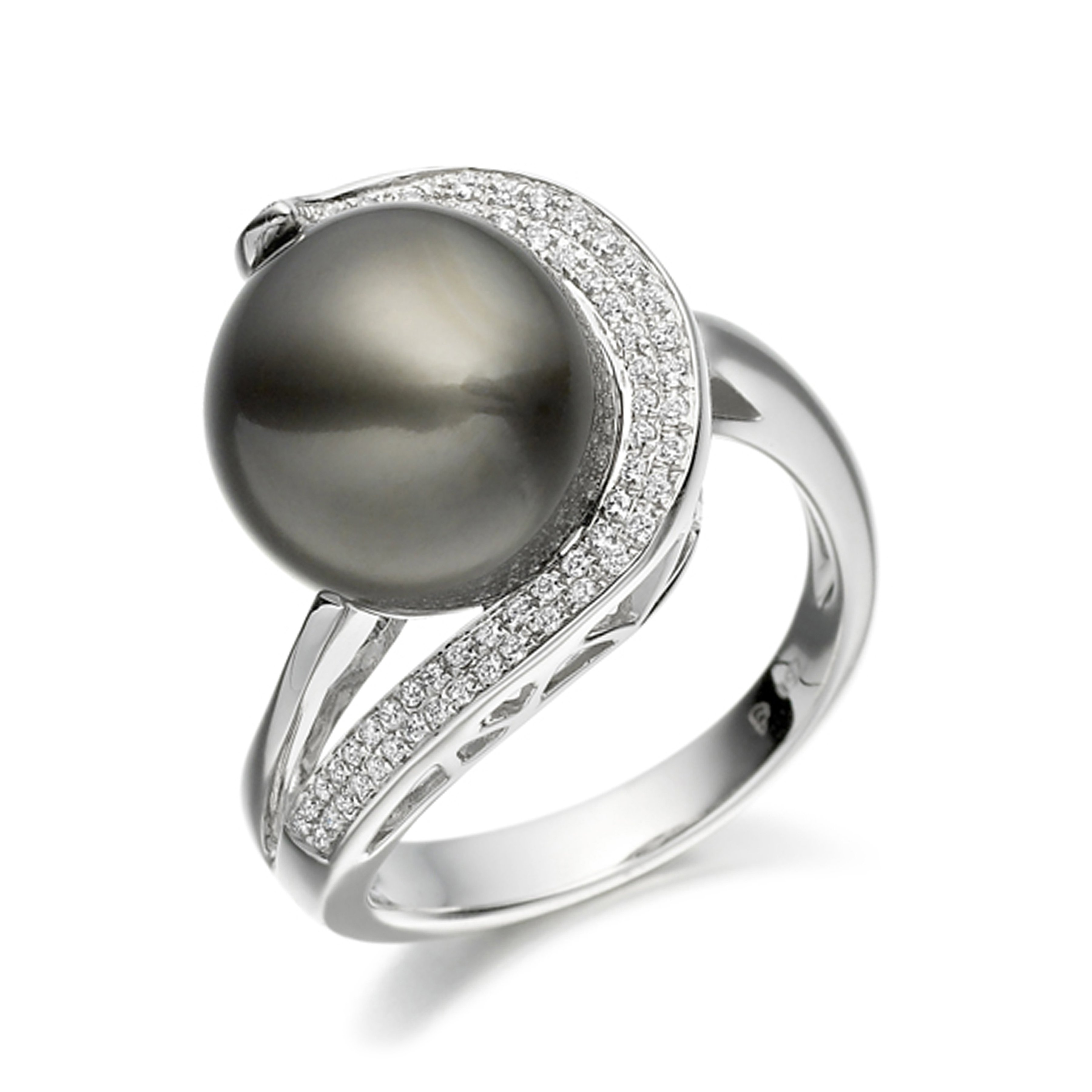 Gemstone Ring With 0.45ct Oval Shape Emerald and Diamonds