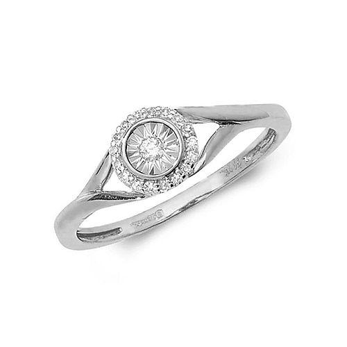 Illusion Set Split Shoulder Diamond Engagement Ring (8.0mm)