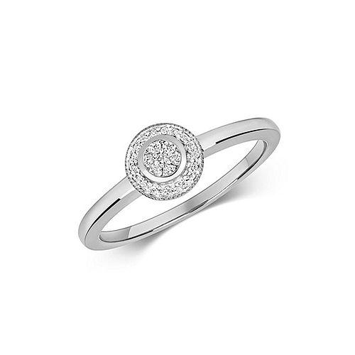 Classic Halo Diamond Cluster Diamond Ring (7.0mm)