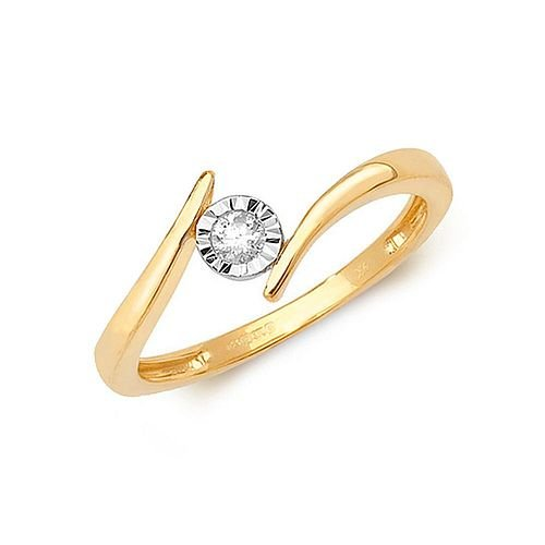Illusion Set Twisted Solitaire Diamond Engagement Ring (5.0mm)