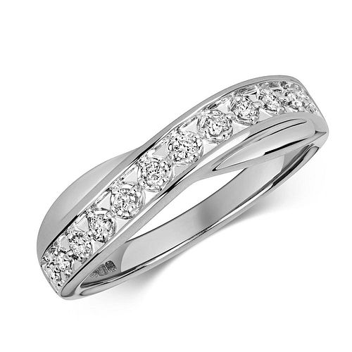 Half Eternity Illusion Set Diamond Ring (3.5mm)